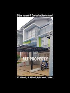 Dijual rumah di Cluster Costarica,Modernland blok CK.