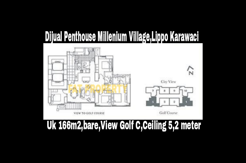 Dijual Penthouse Apartment Millenium Village Tower Fairview,Lippo Karawaci.