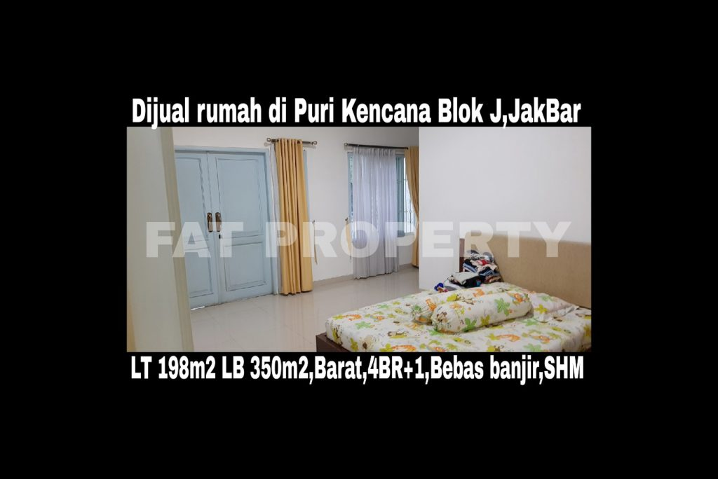 Dijual cepat butuh cash,rumah di Puri Kencana blok J,Belakang Gedung Kawan Lama,Jakarta Barat: