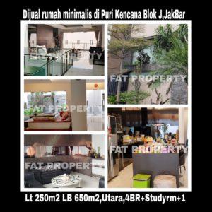 Dijual rumah mewah gaya minimalis di Puri Kencana blok J,Belakang Gedung Kawan Lama,Jakarta Barat
