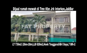 Dijual rumah mewah di perumahan elite orang kaya lama: Taman Kebon Jeruk Interkon Boulevard (samping Blok I),Jakarta Barat