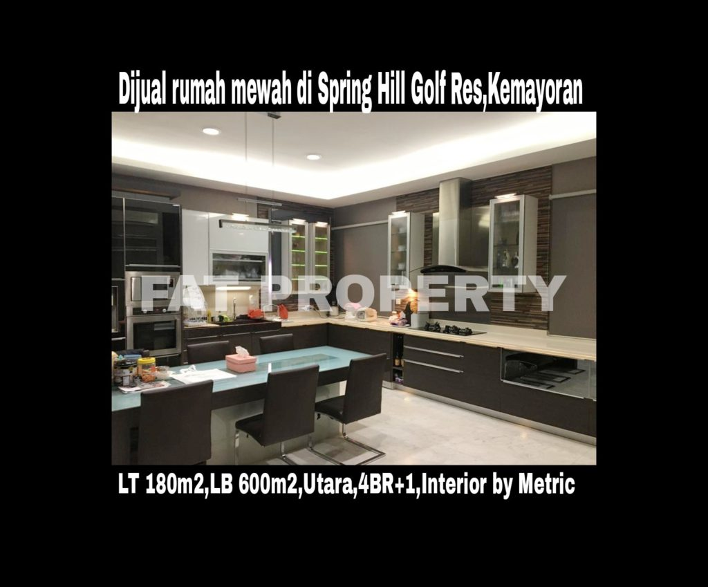 Dijual rumah mewah di Spring Hill Golf Residence,Kemayoran,Jakarta Pusat.