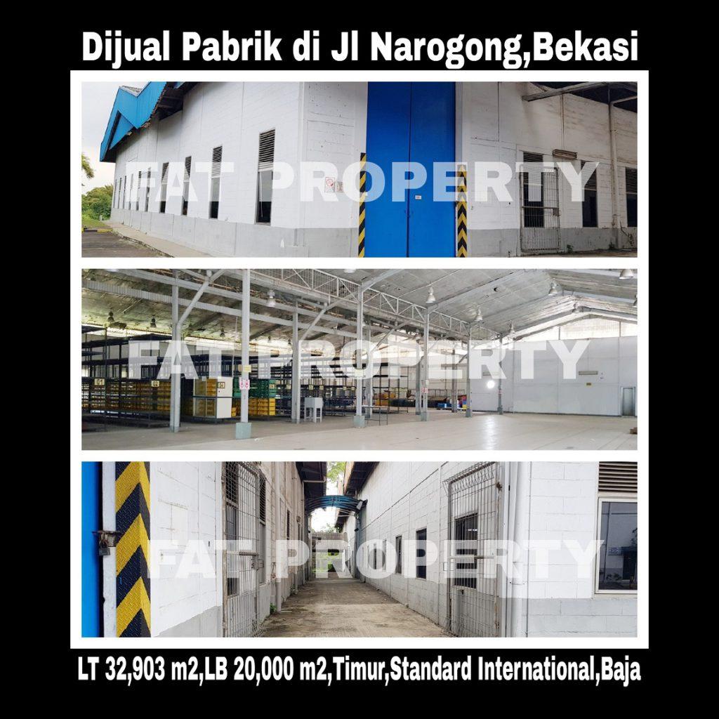 Dijual pabrik bagus di Narogong,Cikiwul,Bekasi