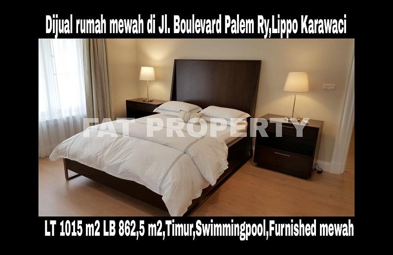 Dijual rumah mewah dgn kolam renang di Jl Boulevard Palem Raya,Lippo Karawaci.
