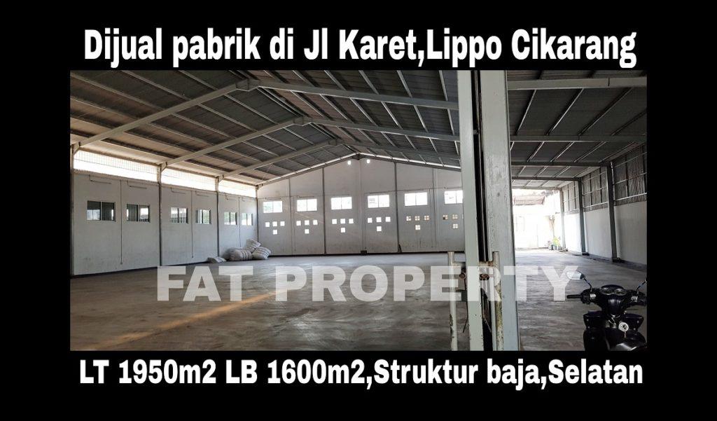 Dijual pabrik ex pabrik batik di Delta Silikon 2,Lippo Cikarang.