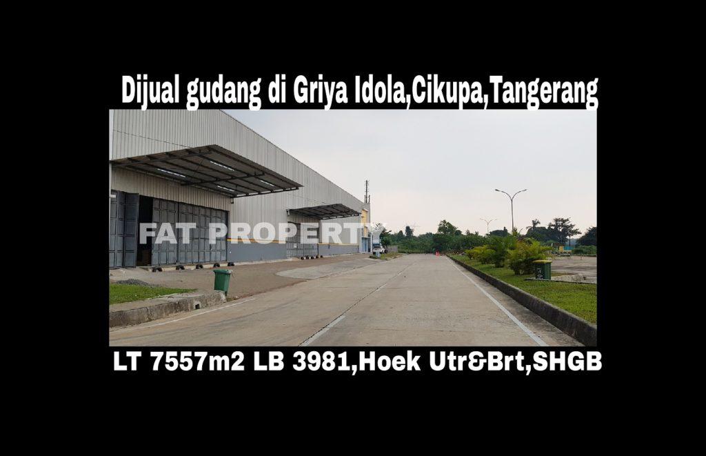 Dijual gudang bagus di Kompleks Pergudangan Griya Idola Industrial Park,Cikupa,Tangerang.