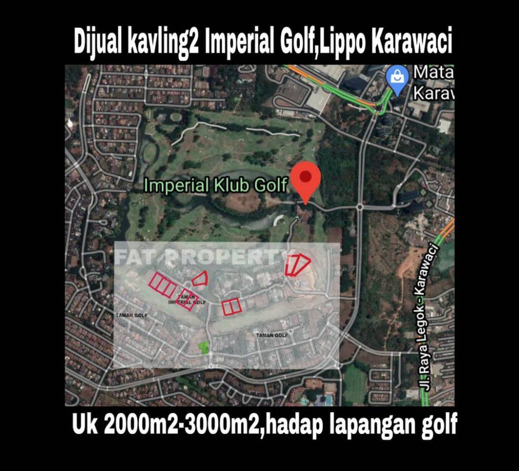 Dijual kavling2 hunian ekslusif di Imperial Golf,Lippo Karawaci.