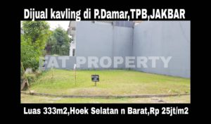 Dijual kavling bagus di perumahan elite sistem cluster yang sangat aman,di Taman Permata Buana, Jl Pulau Damar.