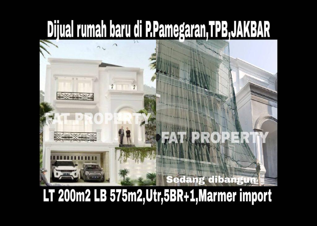 Dijual rumah di Taman Permata Buana,Jl Pulau Pamegaran,Jakarta Barat.