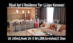 Dijual Apt U Residence Tower 1,Lippo Karawaci.