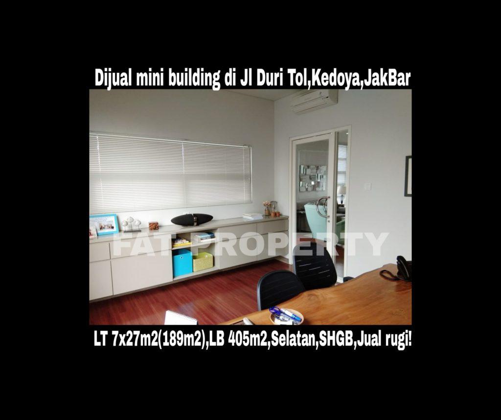 Dijual gedung kantor kecil bagus di Jl Duri Tol,Kedoya,Jakarta Barat.
