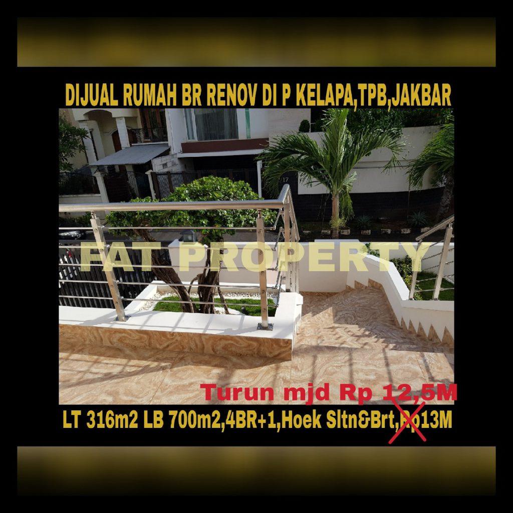 Dijual rumah mewah baru renov di Jl.Pulau Kelapa,Taman Permata Buana,samping Puri Indah,Jakarta Barat.