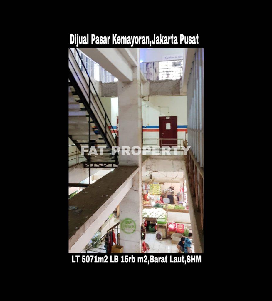 Dijual Gedung Pasar Kemayoran,Jalan Bendungan Jago Raya 16,Utan Panjang,Kemayoran,Jakarta Pusat.