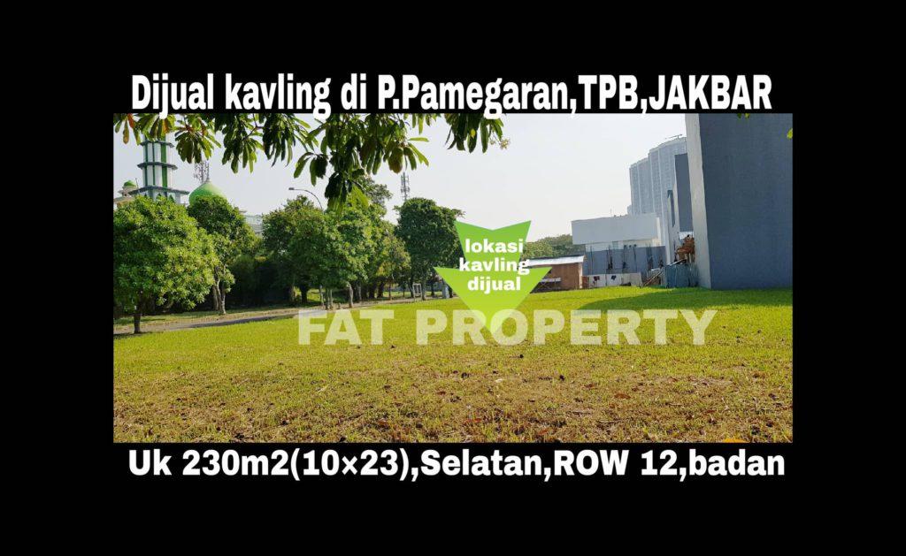Dijual kavling hunian di Jl Pulau Pamegaran T2 no 20,Taman Permata Buana,Jakarta Barat.