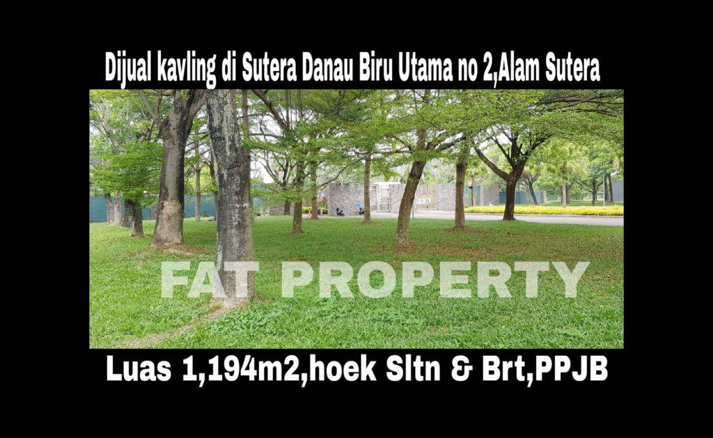 Dijual kavling perumahan elite di Alam Sutera.