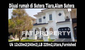 Dijual rumah bagus baru di Sutera Tiara VII,Alam Sutera,Serpong.