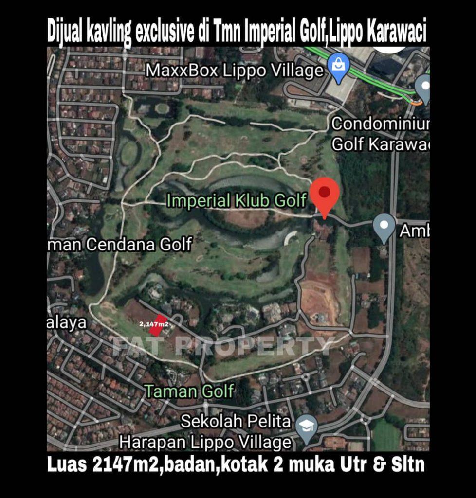 Dijual kavling hunian ekslusif di Imperial Golf,Lippo Karawaci.