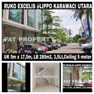 Dijual RUKO EXCELIS di lokasi strategis – pusat bisnis yg sudah ramai (Kantor, Bank, Resto, Salon, Minimarket, dll) di Lippo Karawaci Utara.