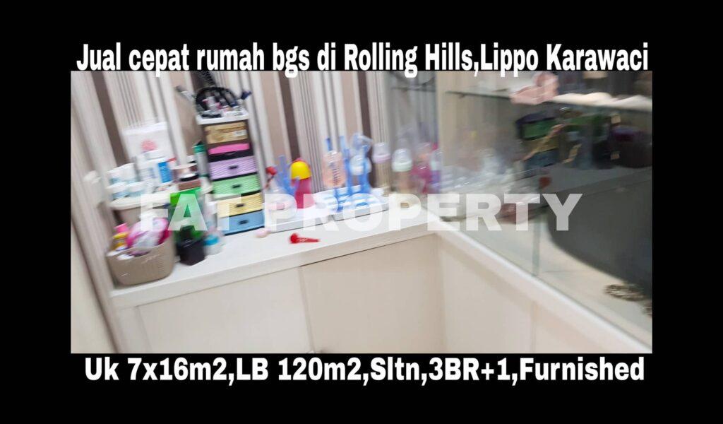 Dijual rumah bagus masih dihuni di Rolling Hills,Lippo Karawaci.