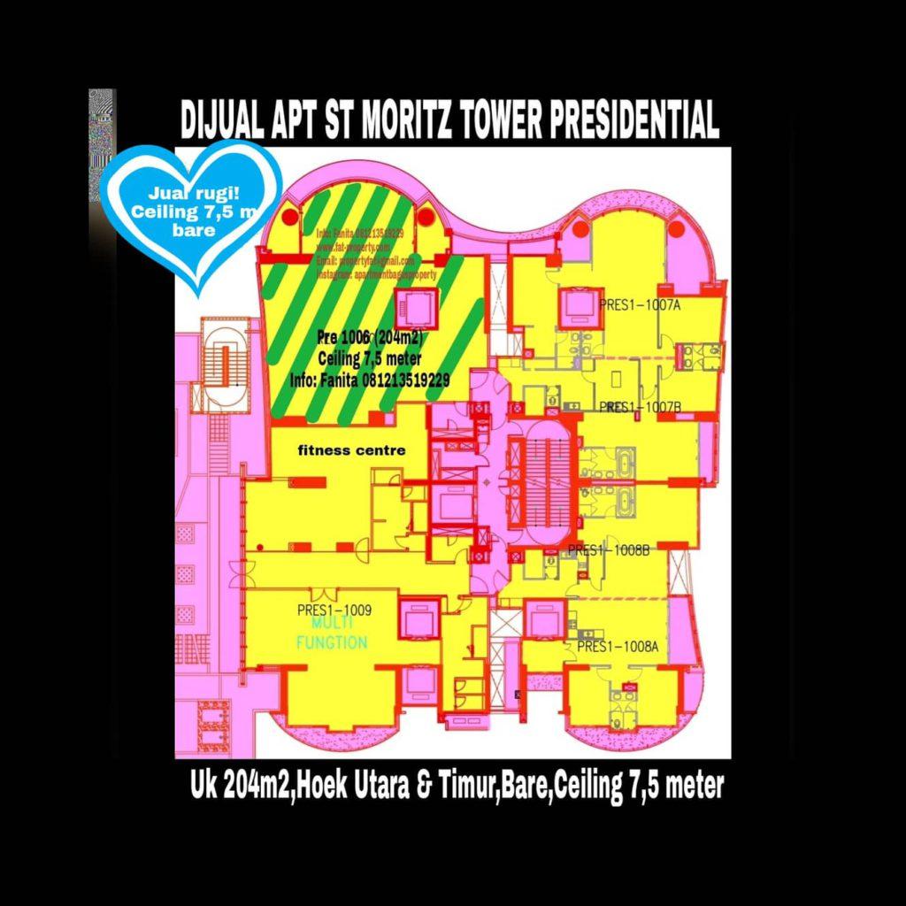 Jual rugi the best unit di ST MORITZ di tower terbaik Presidential unit 06