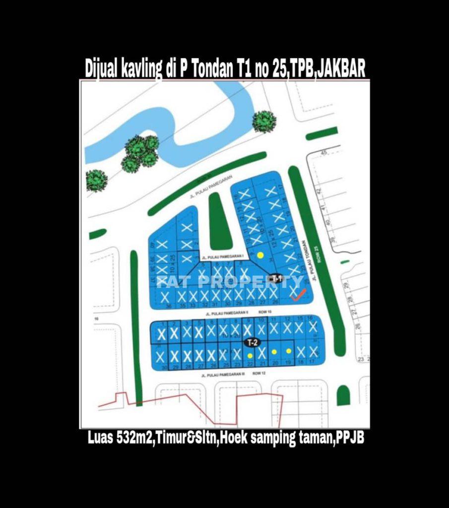 Dijual kavling premium hunian di Jl Boulevard Pulau Tondan Blok T1 no 25,Taman Permata Buana,Jakarta Barat.