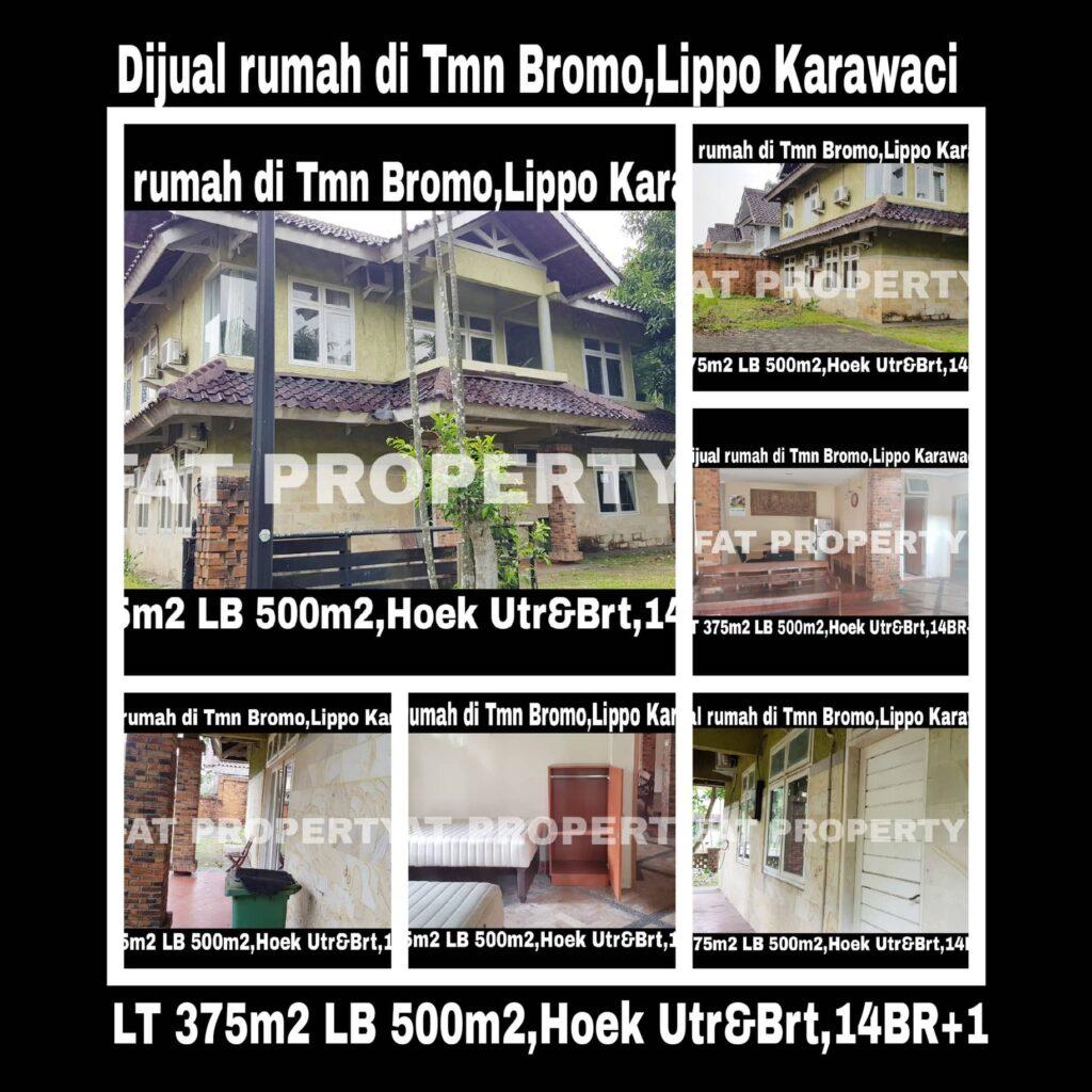Jual cepat super BU:Rumah asri hoek di Lippo Karawaci Central,di Taman Bromo.