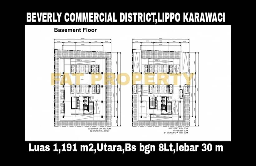 Woww kavling komersil di CBD Lippo Karawaci: BEVERLY COMMERCIAL DISTRICT.