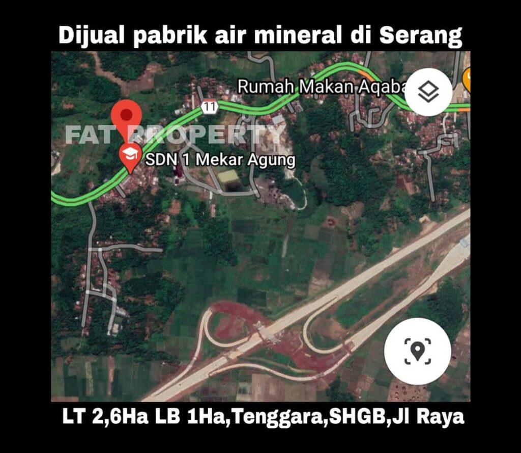 DIJUAL PABRIK AIR MINUM di Pandeglang,Serang.
