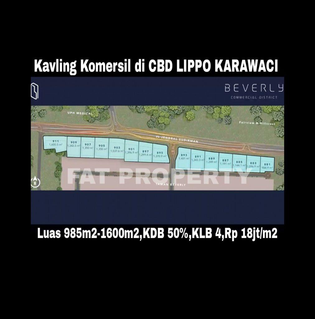 Luar biasa kavling komersil bgs di CBD LIPPO KARAWACI harga murah!