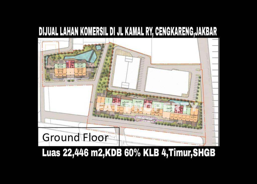 Dijual lahan komersil di Jl Kamal Raya,Cengkareng,Jakarta Barat.
