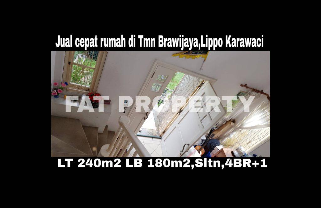 Jual cepat super BU:Rumah asri di Lippo Karawaci Central,di Taman Brawijaya.