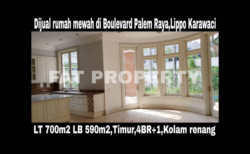 Dijual rumah mewah dgn kolam renang di Jl Boulevard Palem Raya (BPR 2329),Lippo Karawaci.