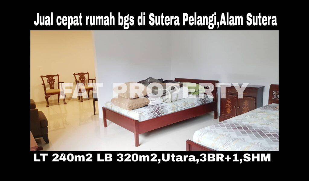 Jual cepat rumah bagus baru renov di Sutera Pelangi,Alam Sutera,Serpong.