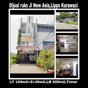 Dijual RUKO 3lt hadap jalan raya di Jl Ruko Star of Asia,Lippo Karawaci.