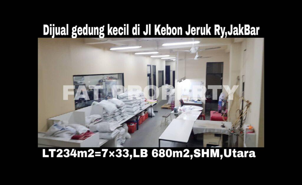 Dijual gedung kecil bagus di Jl Kebon Jeruk Raya,Jakarta Barat.