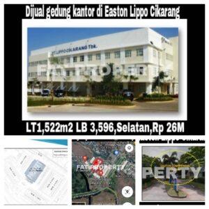 Dijual gedung kantor di Eaton Commercial Centre,Jl Gunung Panderman,Lippo Cikarang.