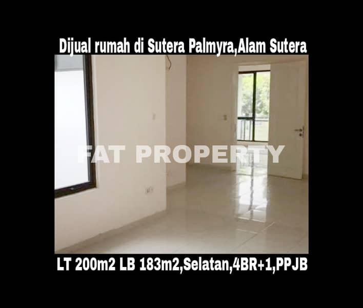 Jual cepat rumah bagus di Sutera Palmyra,Alam Sutera,Serpong.
