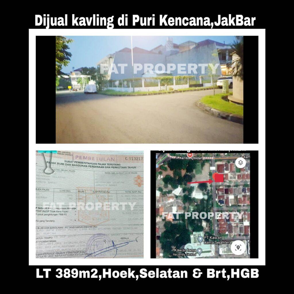 Dijual kavling hunian di Puri Kencana blok J2 no 44,Belakang Gedung Kawan Lama,Jakarta Barat