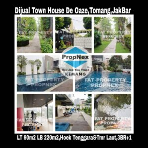 Dijual townhouse di De Oaze,Tomang,Jakarta Barat.