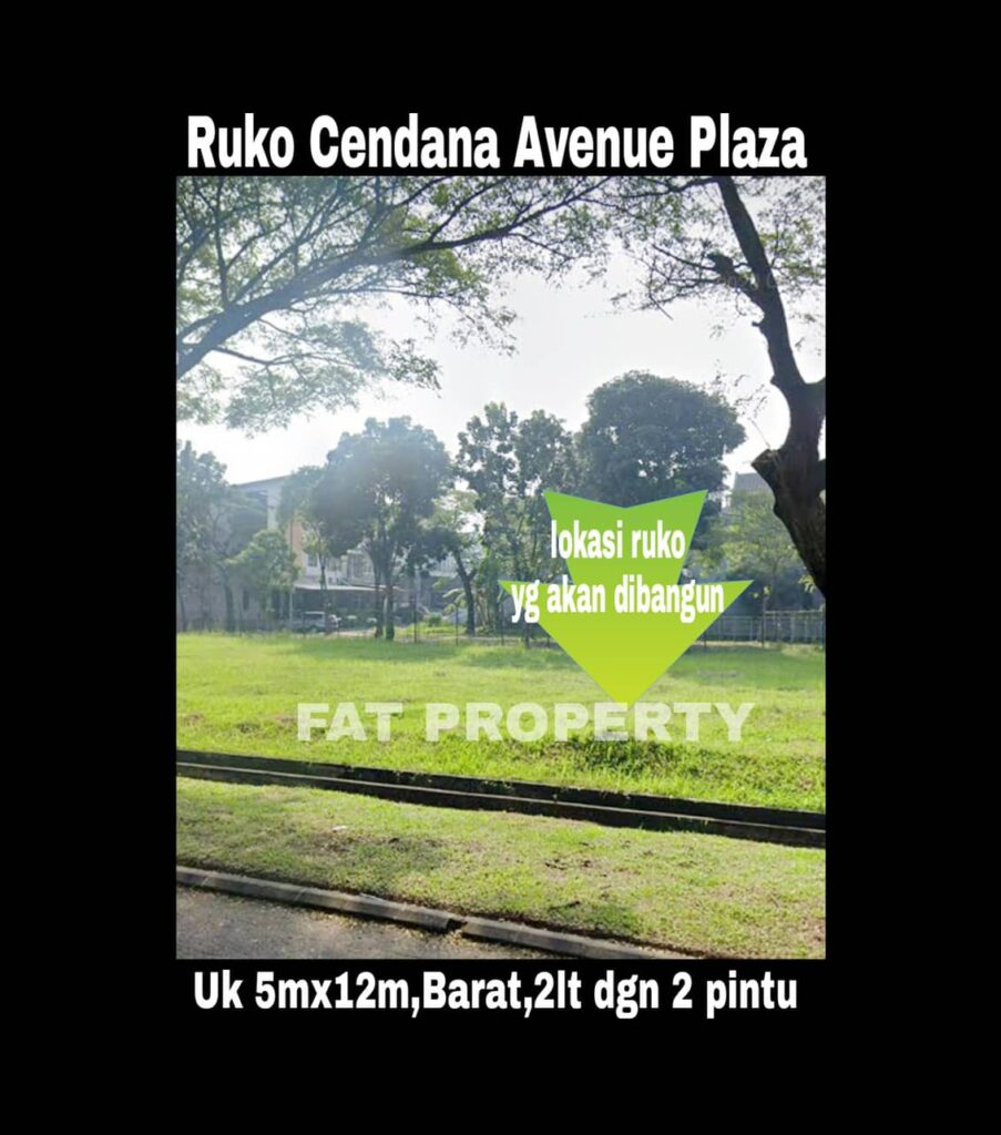 Dijual RUKO CENDANA PEAK AVENUE PLAZA,LIPPO KARAWACI UTARA.