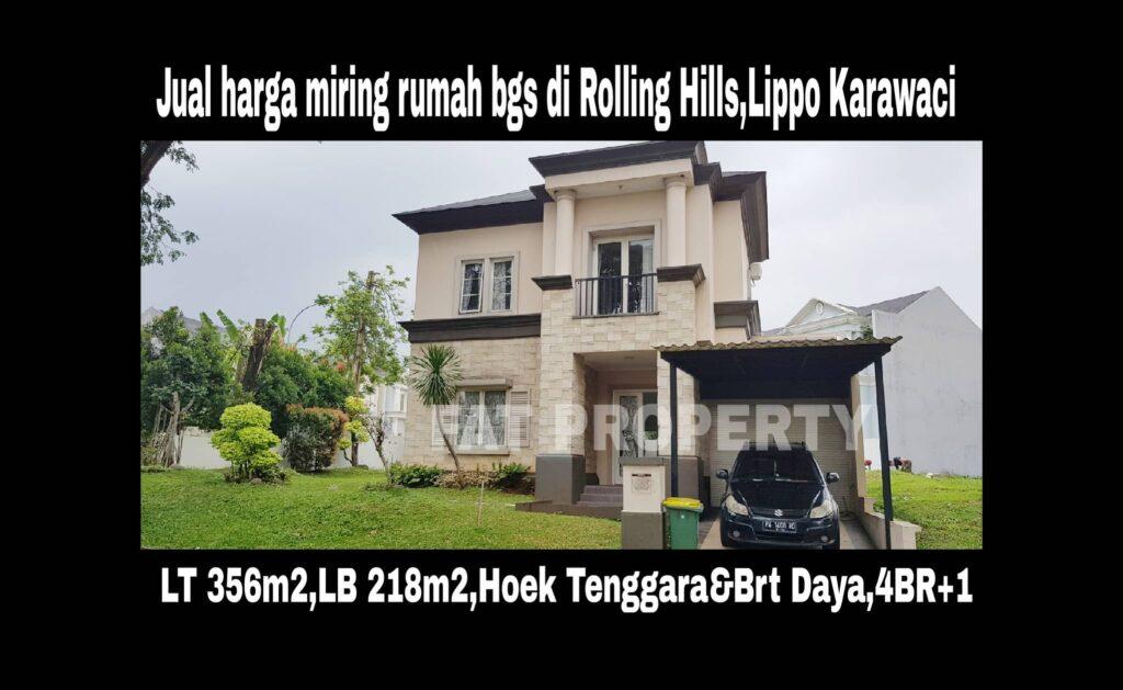 Dijual rumah bagus di Rolling Hills,Lippo Karawaci.