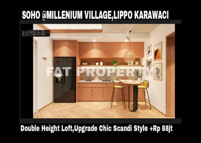 Dijual SOHO (Smart Office Smart Office) di Millenium Village,Lippo Karawaci.