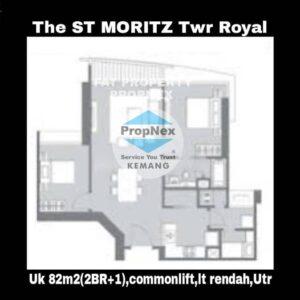 Dijual /disewa Apartment ST MORITZ Tower Royal,Puri Indah,Jakarta Barat.