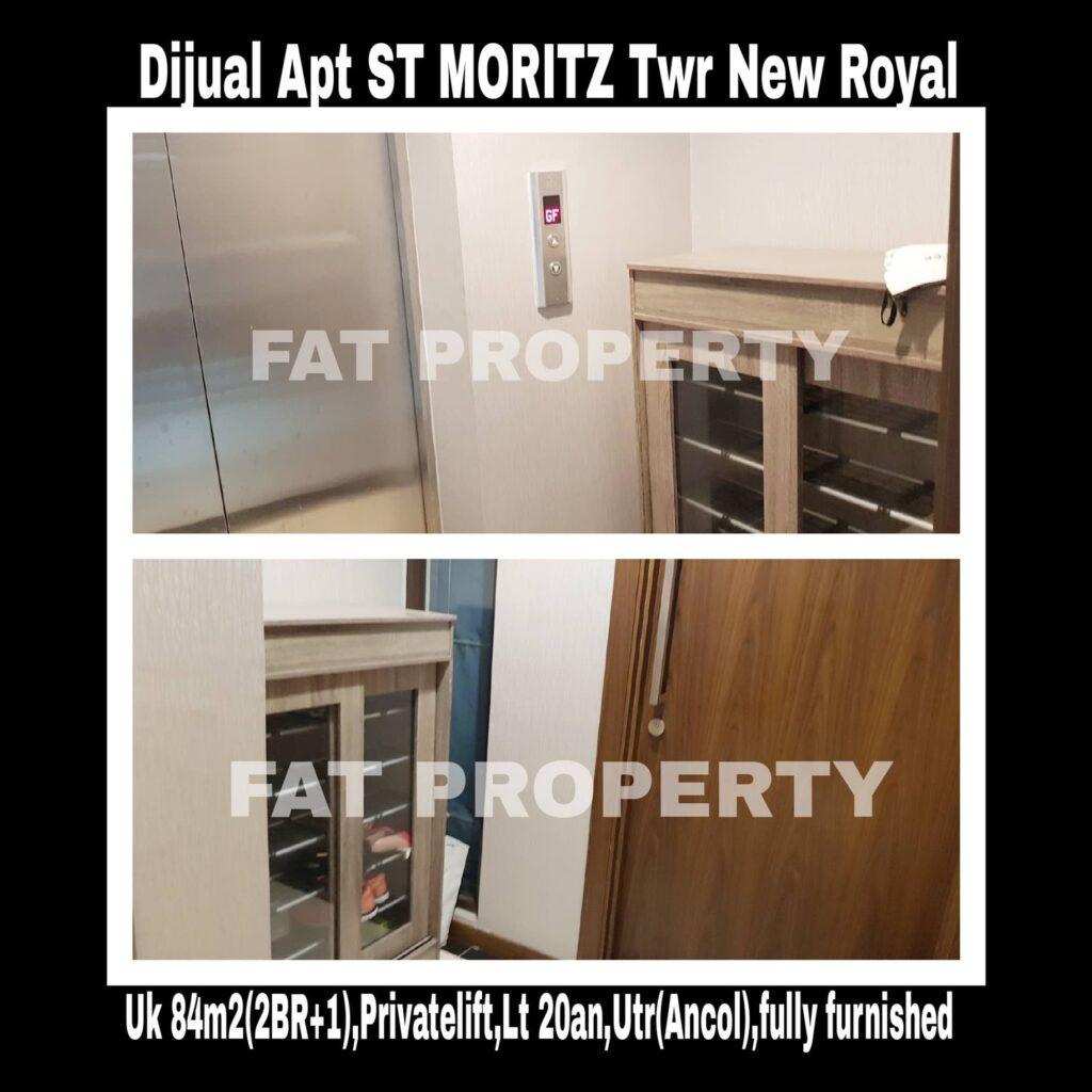 Dijual rugi Apartment ST Moritz di Jl Puri Indah Jakarta Barat.