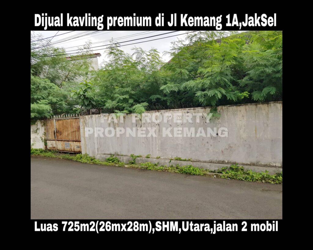 Dijual kavling premier di Jl Kemang 1a no 25,Jakarta Selatan.