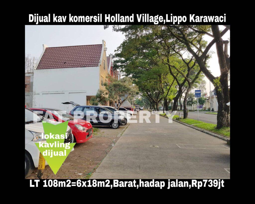 Dijual kavling komersil di Jl Teuku Umar LIPPO KARAWACI UTARA.