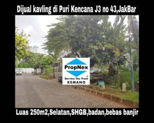 Dijual kavling hunian di Puri Kencana blok J3 no 43,Belakang Gedung Kawan Lama,Jakarta Barat
