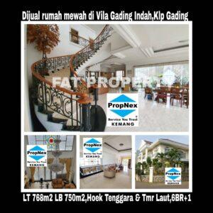 Dijual rumah mewah di Jl Villa Gading Indah,Kelapa Gading.