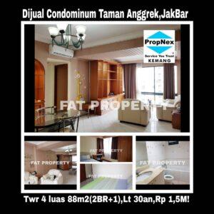 Dijual Condominium Taman Anggrek (di atas Mal Taman Anggrek),Tower 4.Jl. Letjen S. Parman,Jakarta Barat.