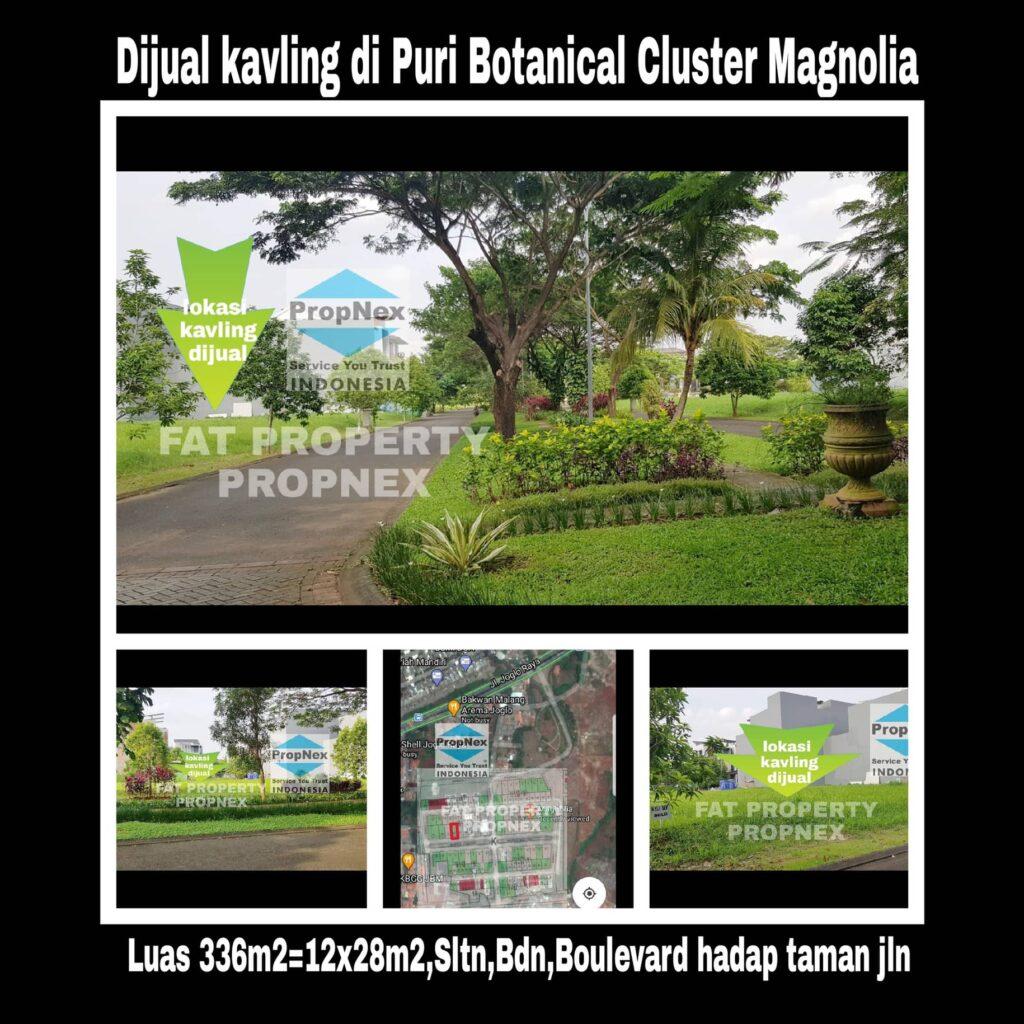 Dijual kavling boulevard di cluster terbaru di Puri Botanical,Cluster Magnolia,Jakarta Barat.
